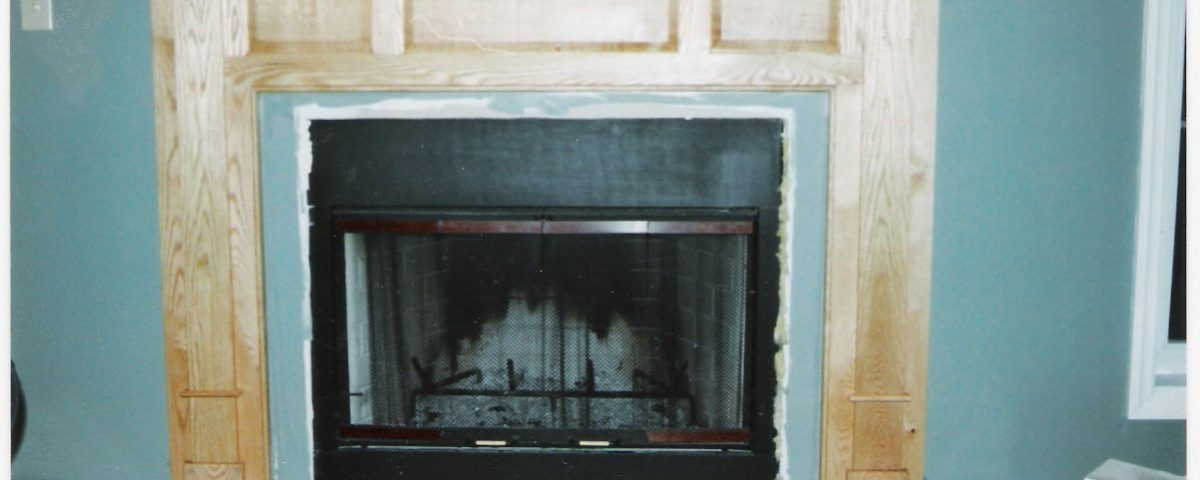 Custom Oak Fireplace Surround 3