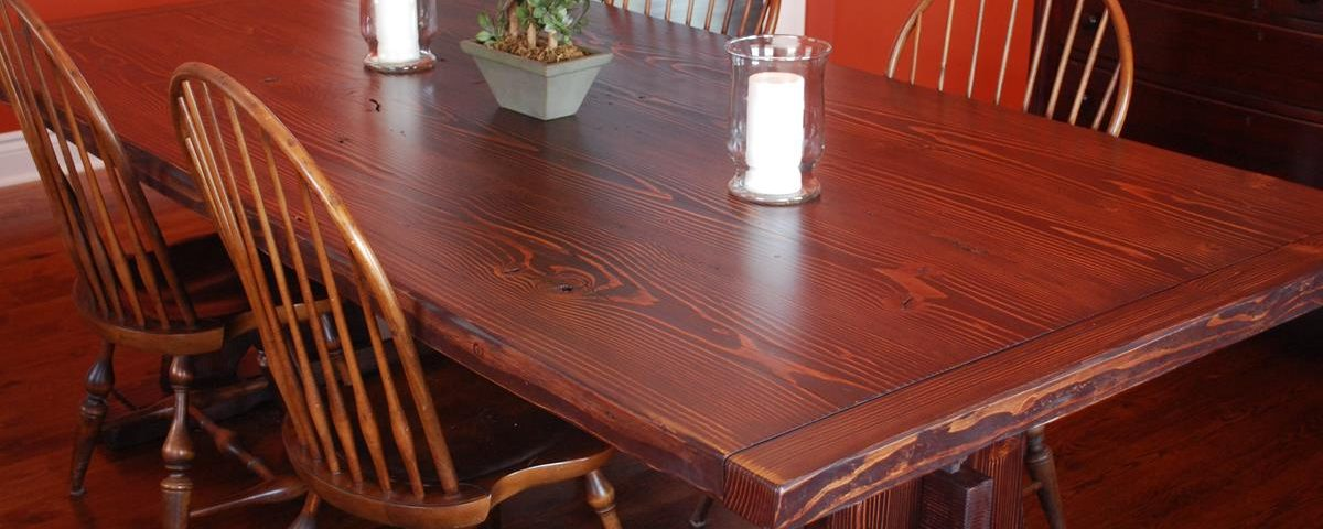 Custom Reclaimed Lumber Dining Table