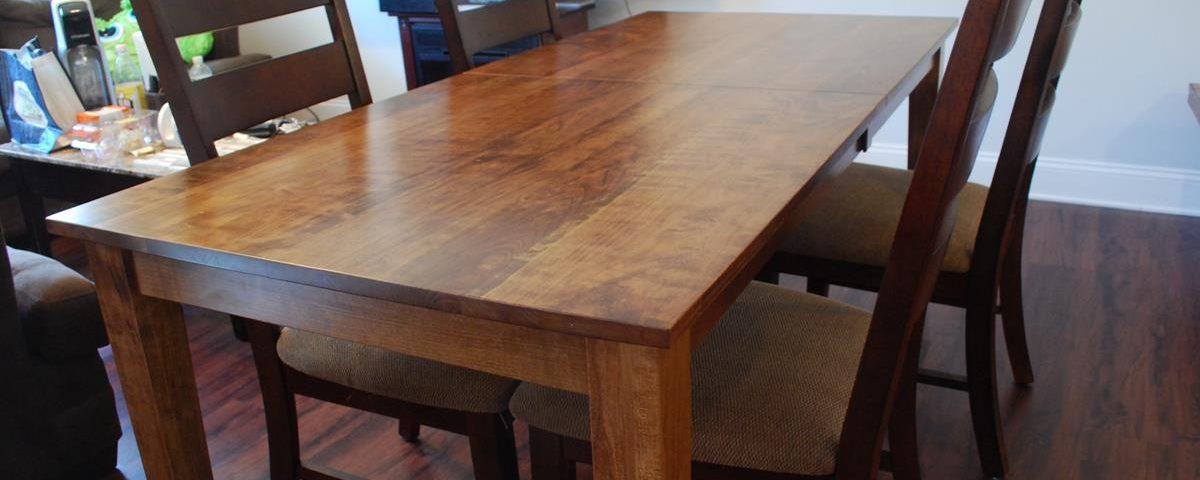 Custom Cherry Dining Table w/Leafs