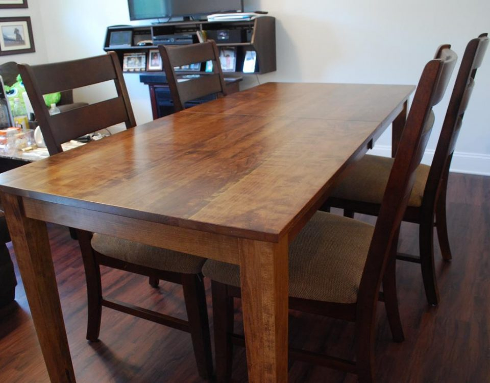 Custom Cherry Dining Table w/Leafs