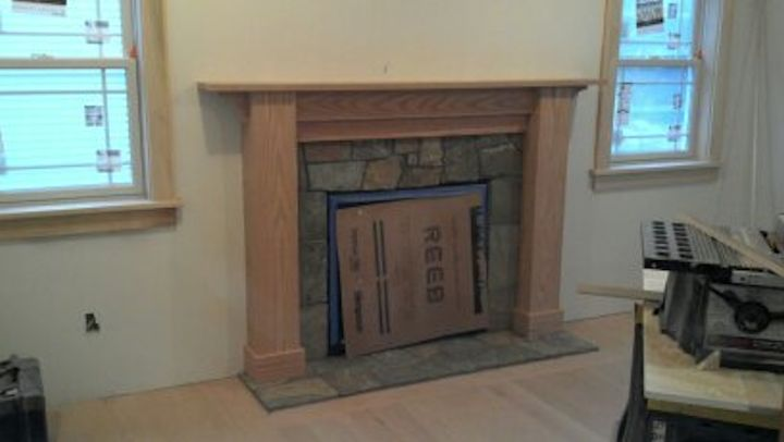 Custom Oak Fireplace Surround 1