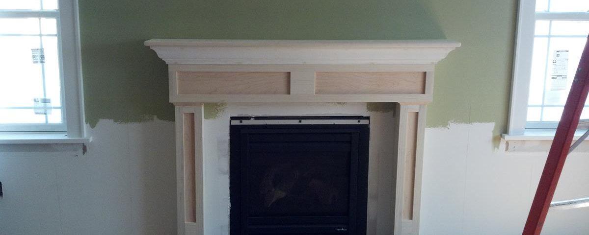 Custom Paint Grade Fireplace Surround