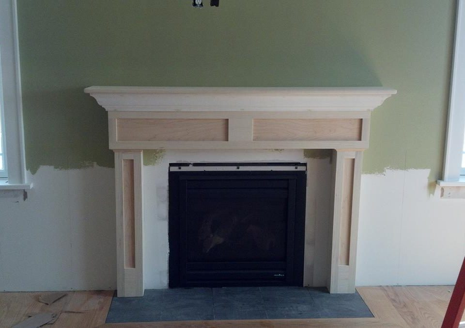 Custom Paint Grade Fireplace Surround