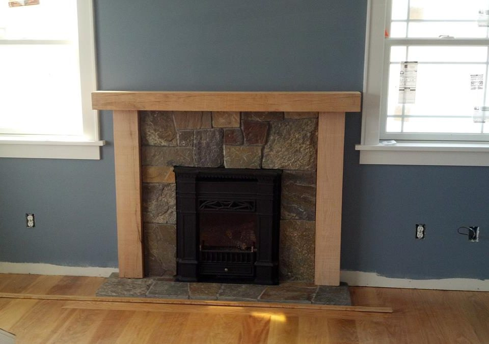 Custom Oak Fireplace Surround 2