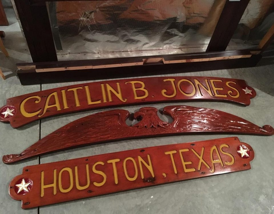 Restore, Boat Name Sign