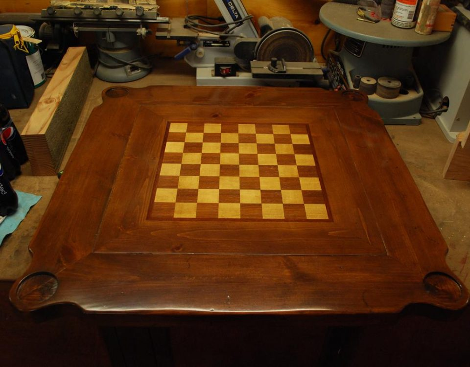 Checker Table Top Refinish