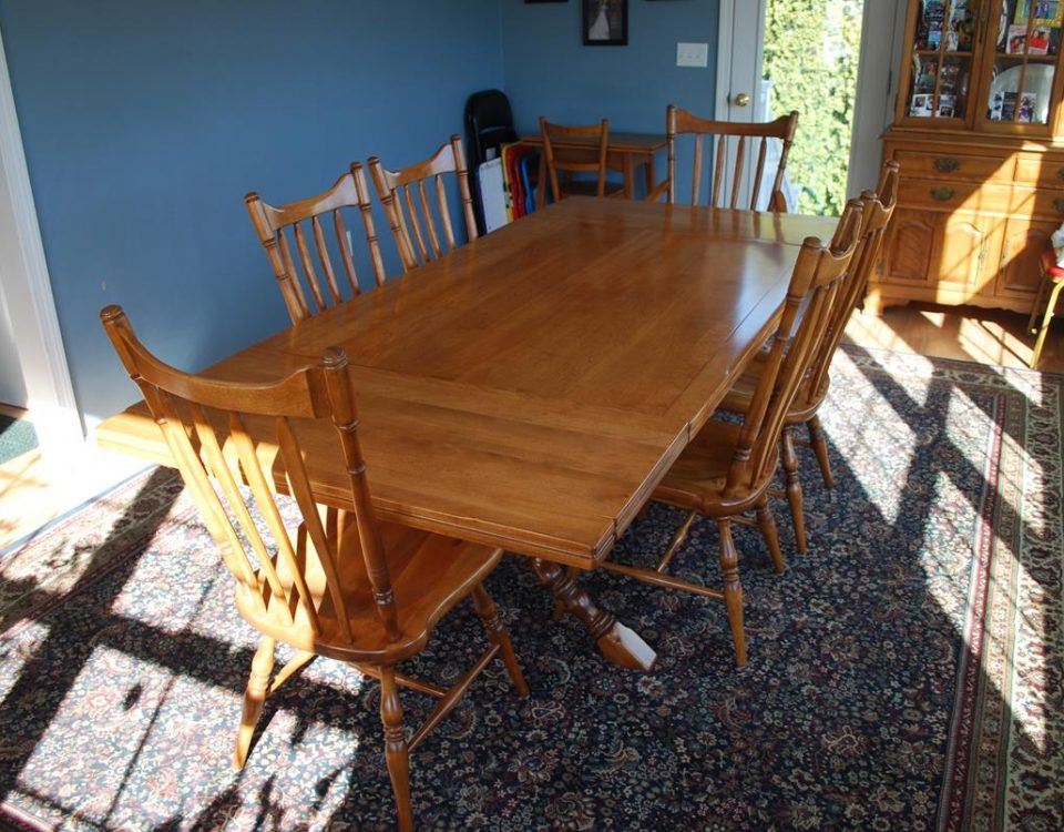 Dining Table and Chairs Refinish