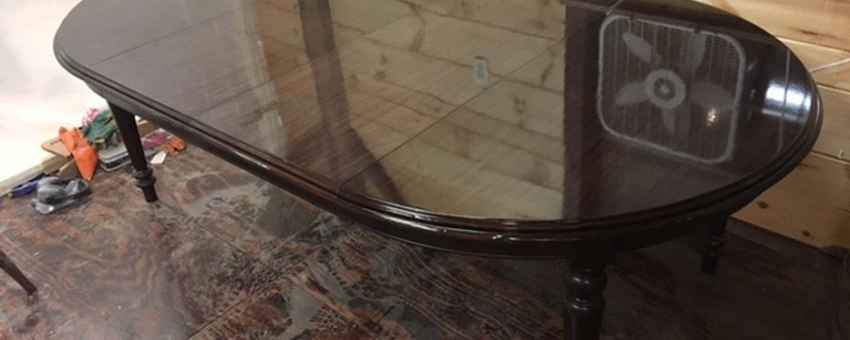 Mahogany Table Refinish