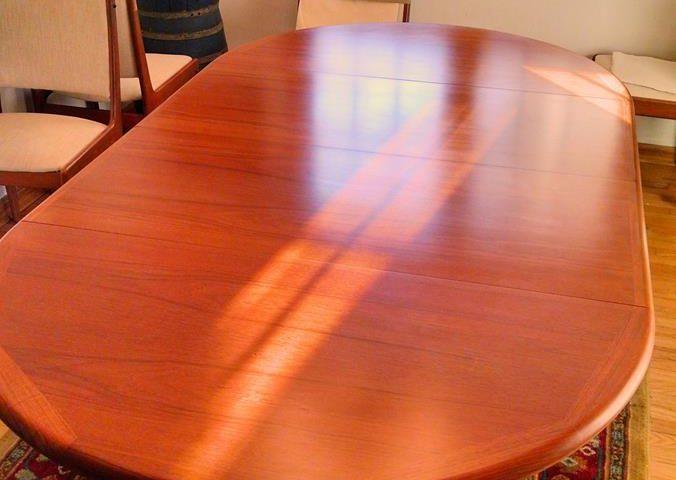 Teak Dining Table Refinish