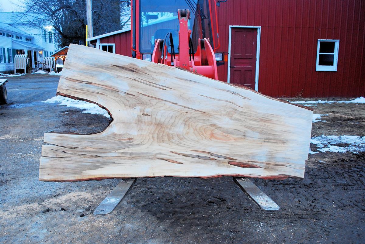 Wood Slab Live Edge Board Wide Plank Wavy Edge Board