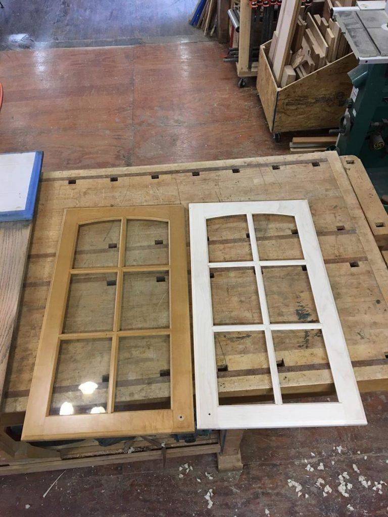 Custom Duplication Glass Cabinet Door