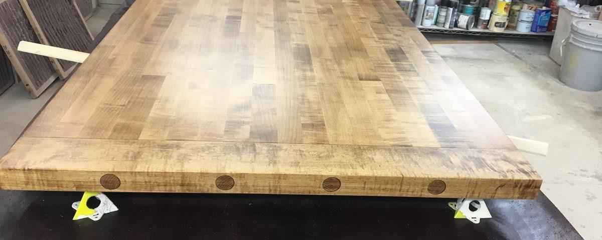 Custom Maple Doweled Counter