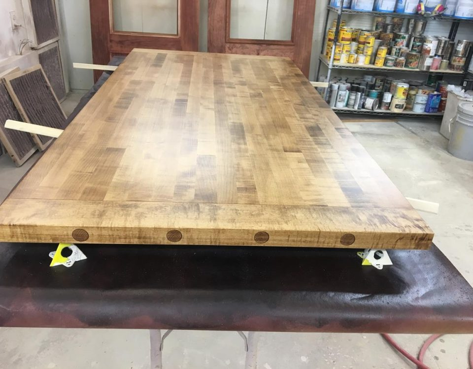 Custom Maple Doweled Counter