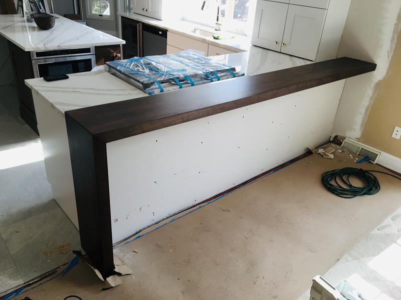 Cherry Waterfall Counter Top