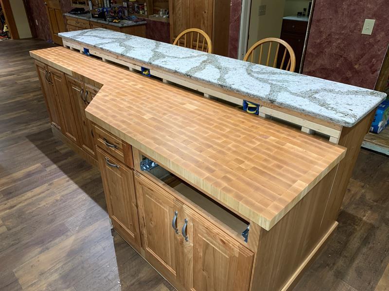 End Grain Maple Counter Top