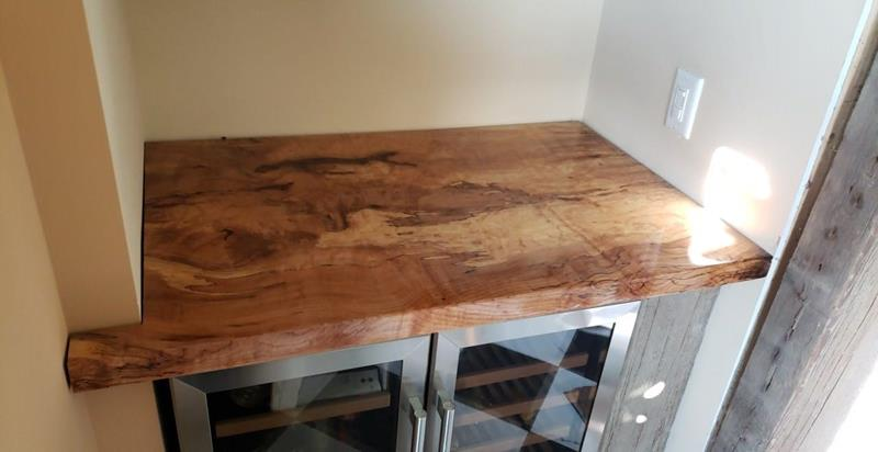 Live Edge Spalted Maple Counter