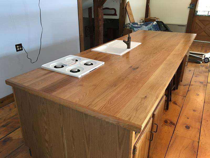 Wide Plank White Oak Countertop Saratoga Ny