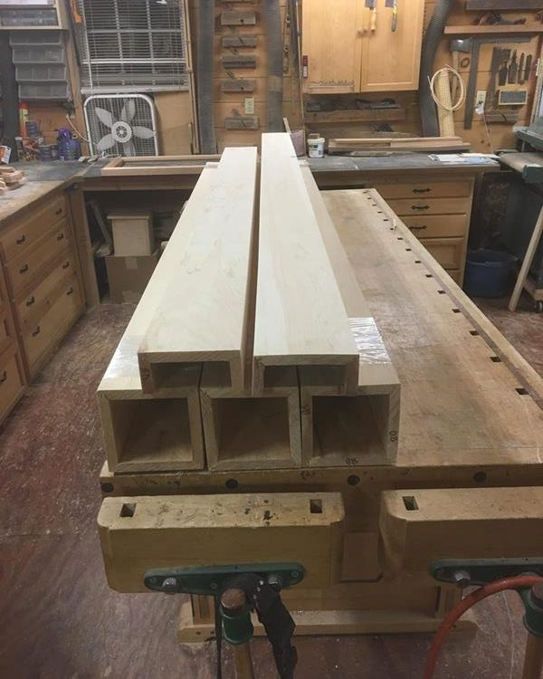 Custom Pine Faux Beams