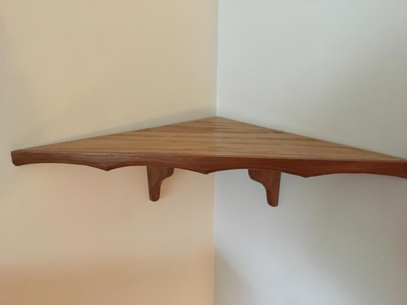 Custom Corner Shelf