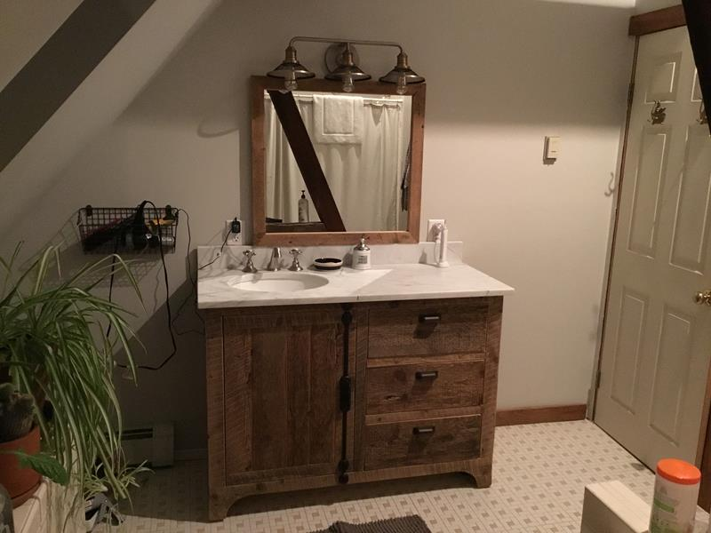 Reclaimed Wood Vanity